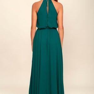 Dark Green Maxi Bridesmaid Dress